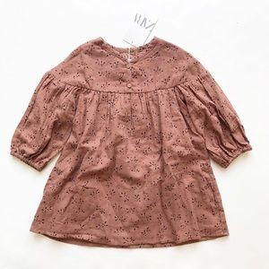 Zara NWT textured print dress 3/4T